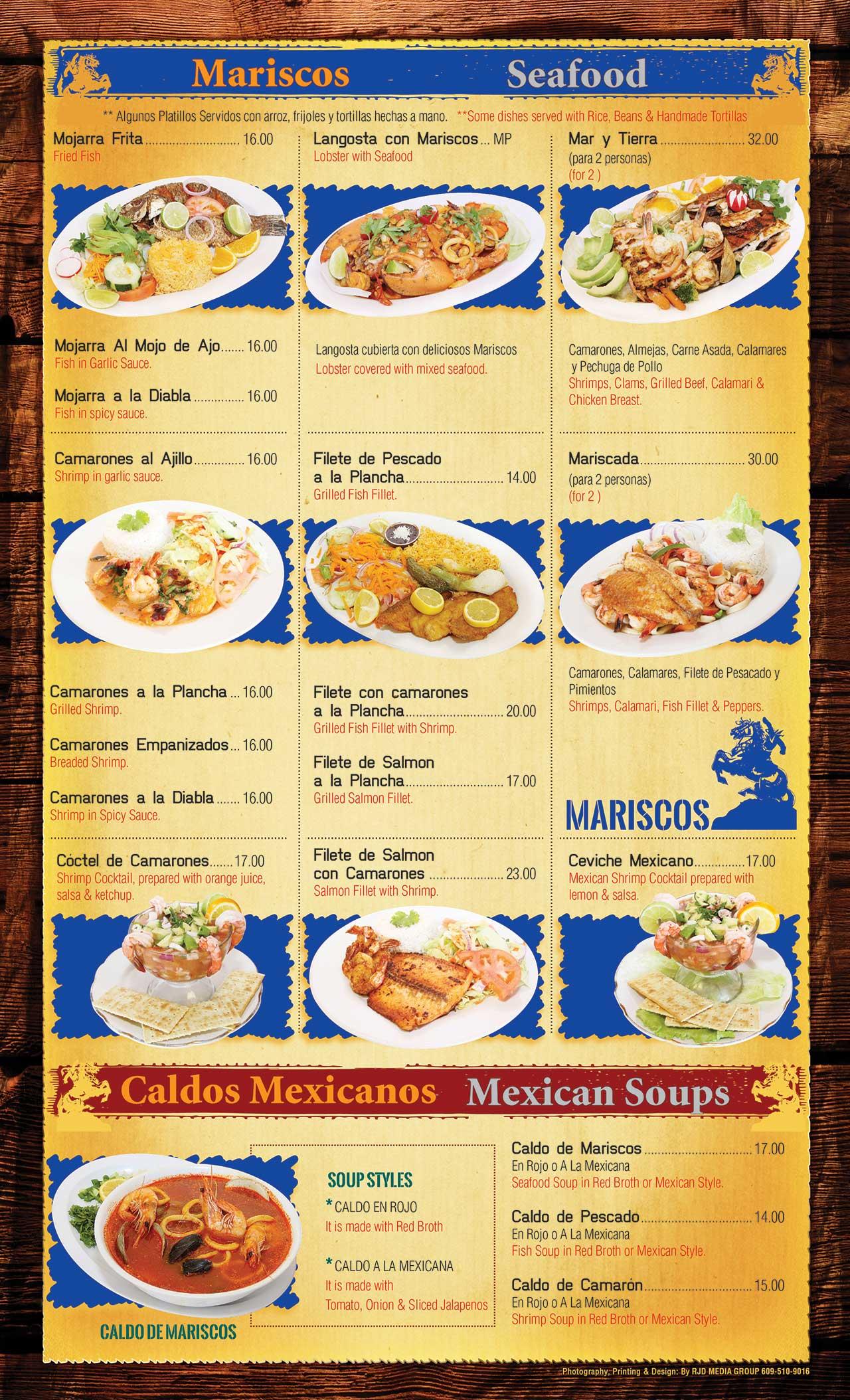 El Ranchito Menu Page 6