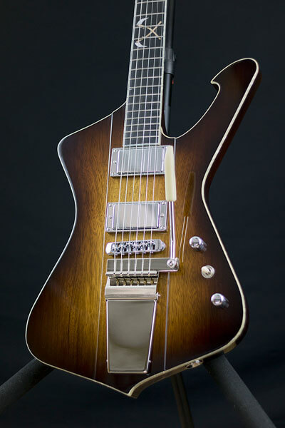 Body and fretboard of Icebird custom-built guitar by State College photographer Rusty Glessner