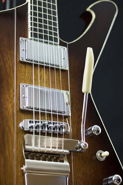 Detail photo of custom-built guitar by State College photographer Rusty Glessner