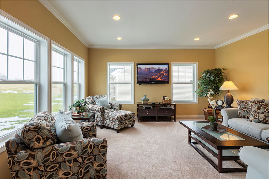 Living room photo by State College real estate photographer Rusty Glessner
