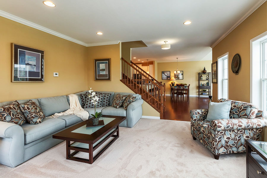 Family room photo by State College real estate photographer Rusty Glessner