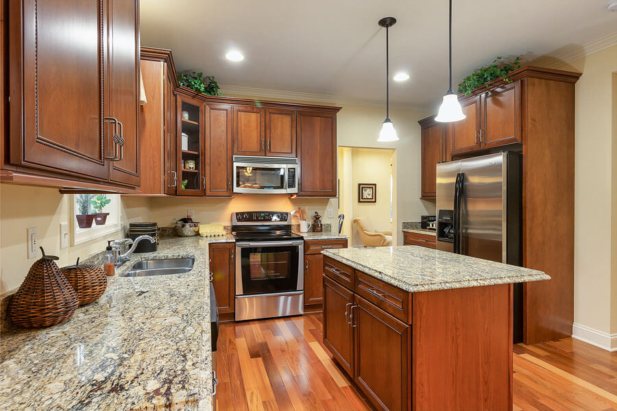 Gourmet kitchen photo by State College real estate photographer Rusty Glessner