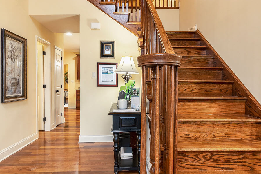 Staircase photo by State College real estate photographer Rusty Glessner