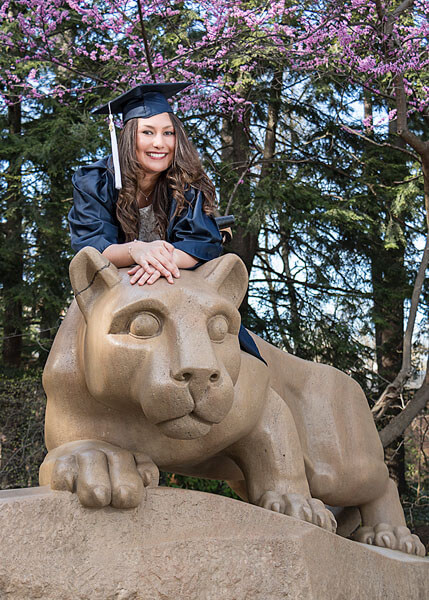 A Penn State senior portrait by State College portrait photographer Rusty Glessner
