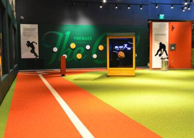 commercial flooring museum sports