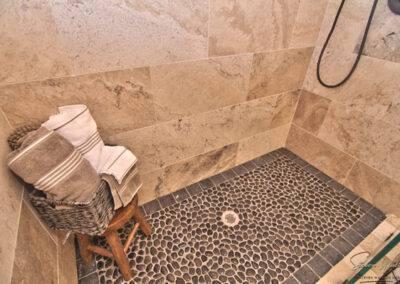 residential flooring shower floor and wall tile
