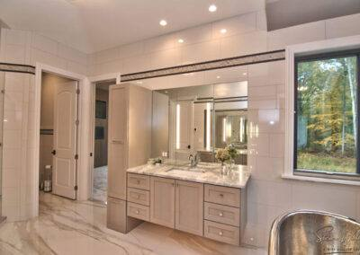 residential custom bathroom floor and wall tile