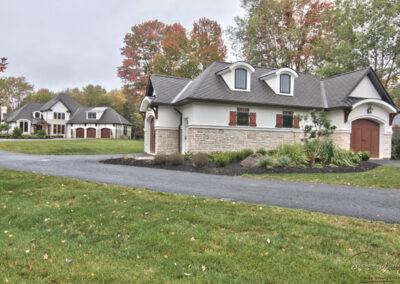 residential custom exterior stacked stone