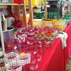 Texas Rose Juice Glasses