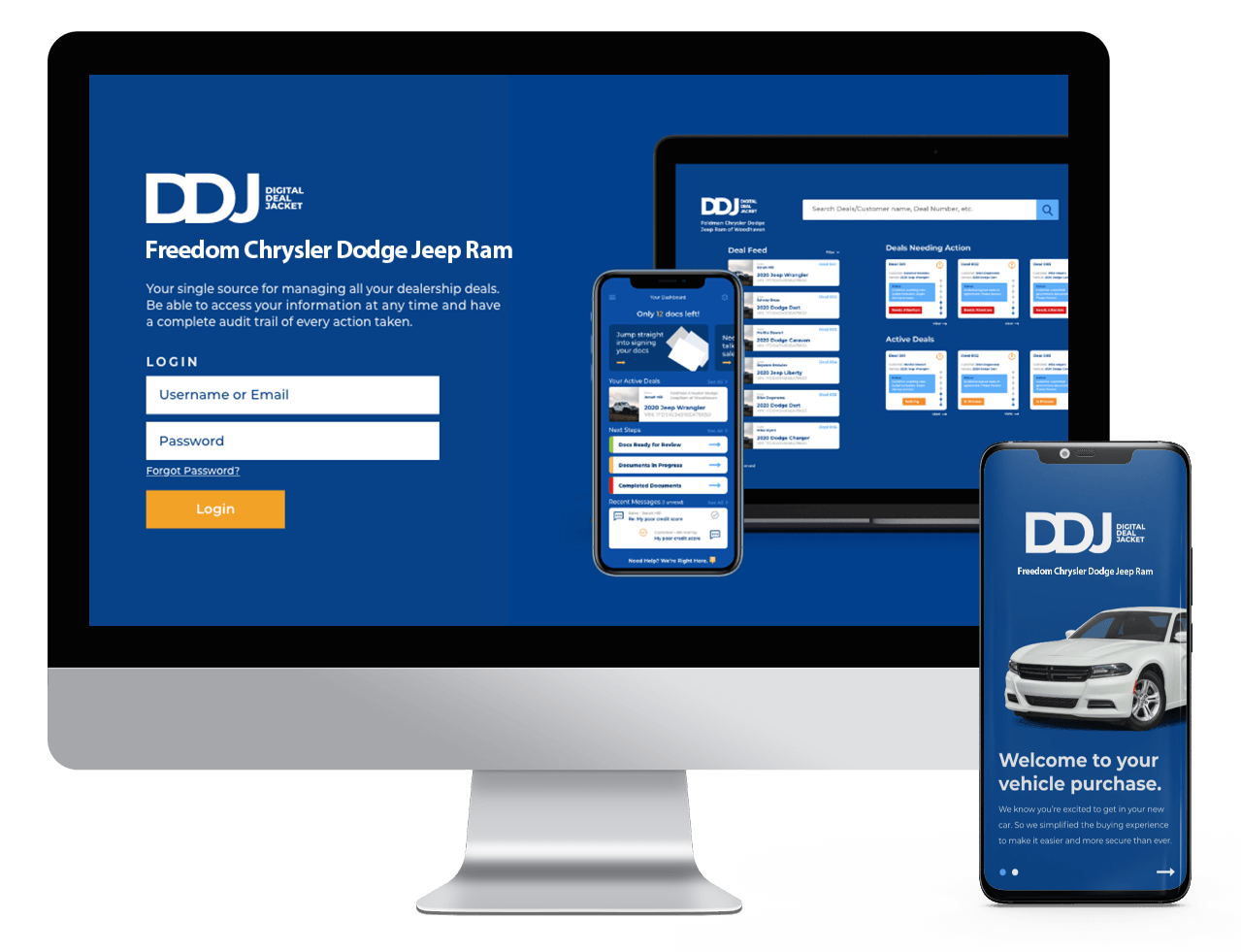 Digital Deal Jacket Dashboard Mockup
