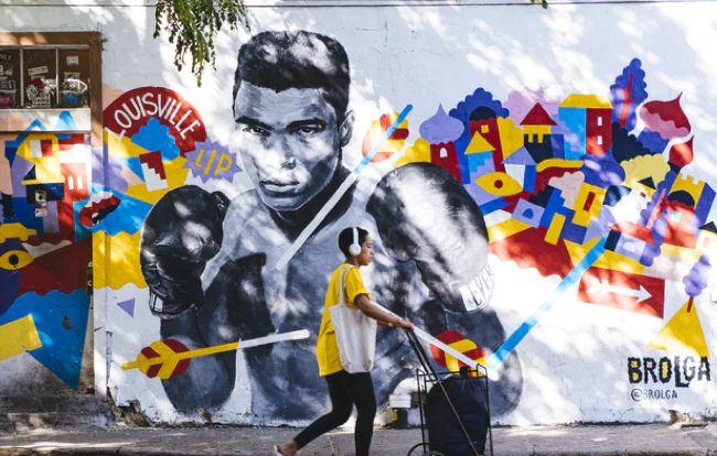 Williamsburg Ali Boxer Mural