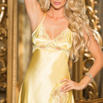 Shirley Of Hollywood Satin & Lace Chemise with G-String