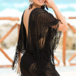 Mapale Swim & Beachwear Crocheted Lace Poncho Cover-Up