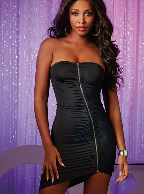 Dreamgirl Ruched Strapless Bandeau Dress