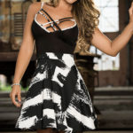 Mapale by Espiral Graphic Print Mini Dress
