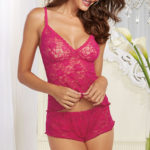 Dreamgirl Lace Camisole and Tap Short