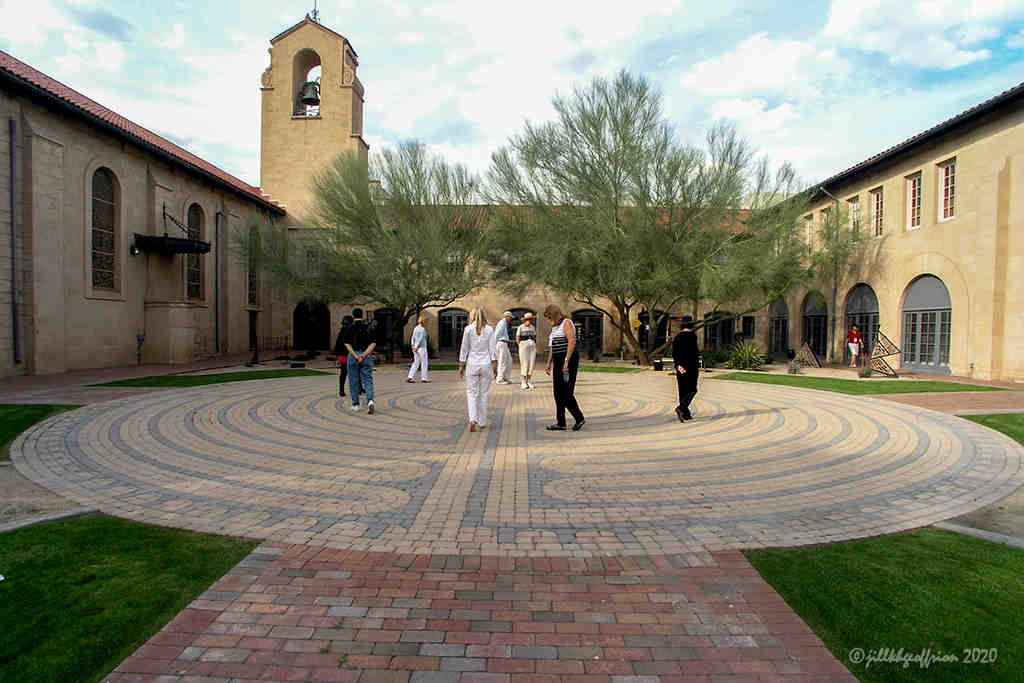 Permanent Chartres-style labyrinth in Pheonix by Jill K H Geoffrion