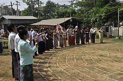 Labyrinth dedication in Yangon by Jill K H Geoffrion, photographer