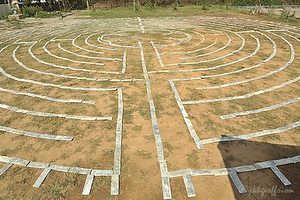 Permanent Chartres-style labyrinth in Yangon by Jill K H Geoffrion