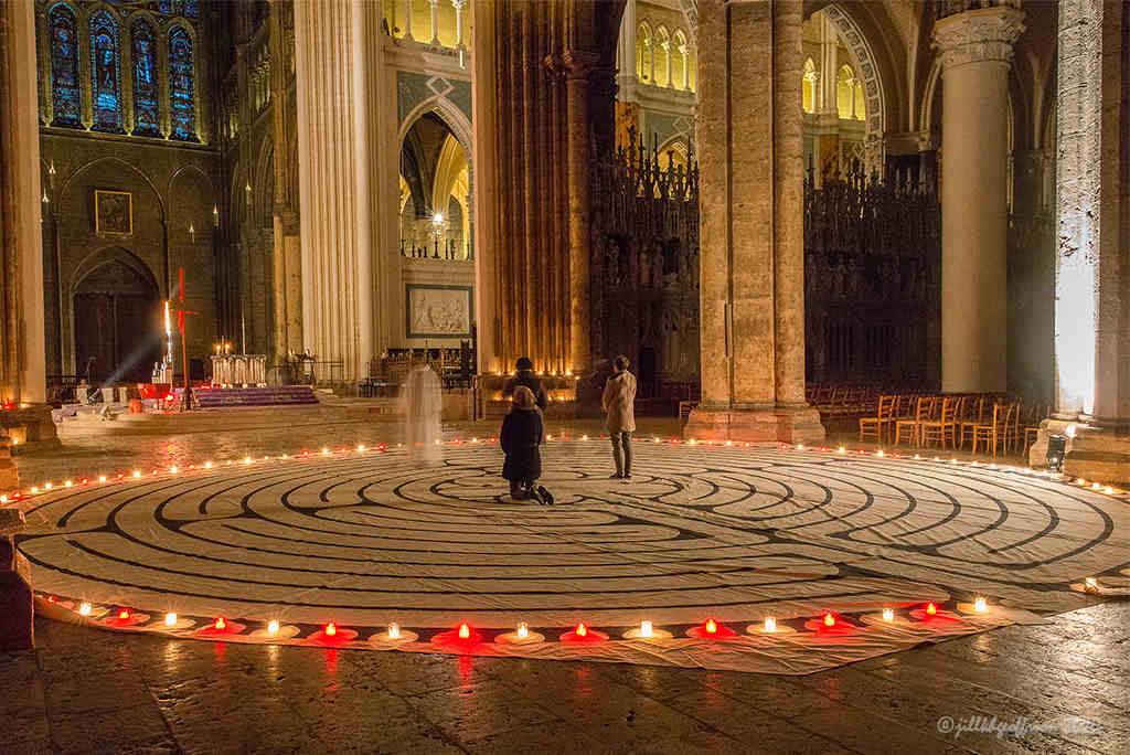 After-hours labyrinth walk by Jill K H Geoffrion, photographer
