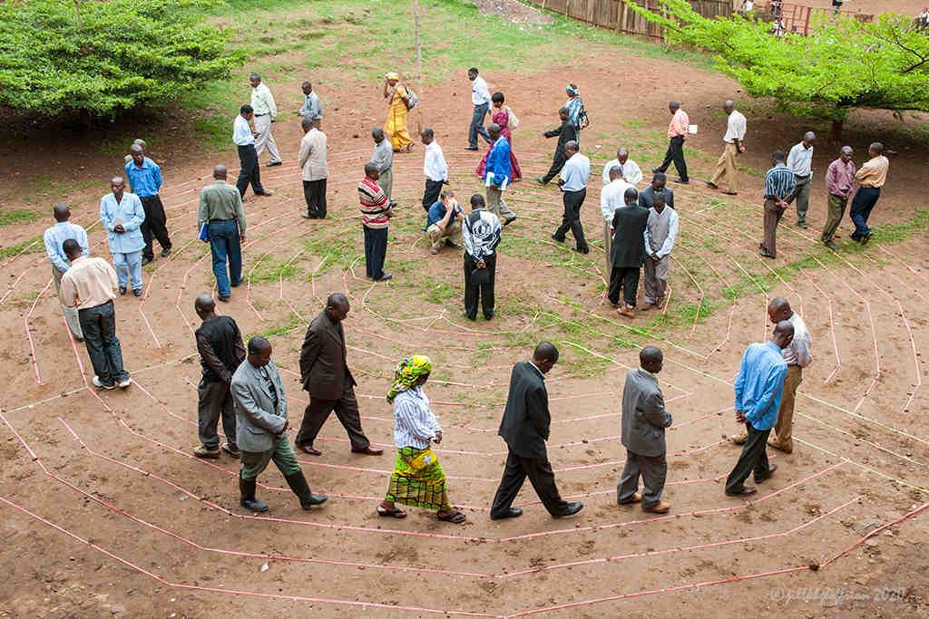 Bukavu D. R. Congo Labyrinth Walk by photographer Jill K H Geoffrion