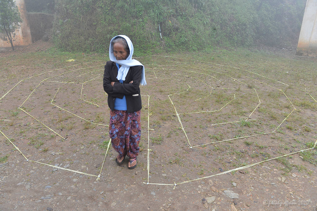 Walking the labyrinth in Chin State, Myanmar