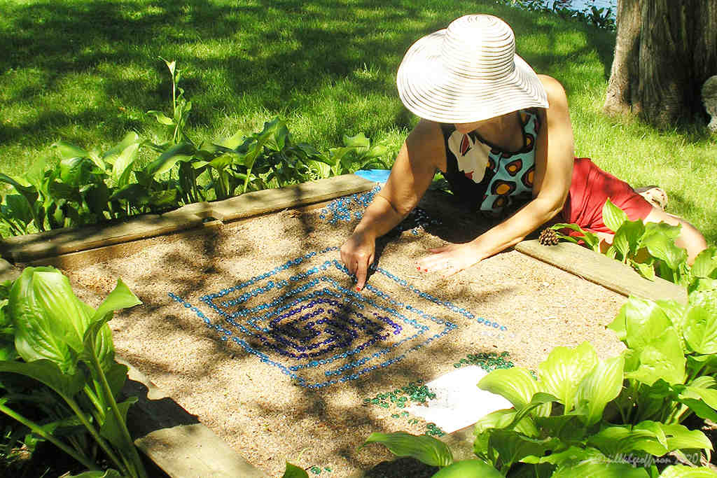 Sandbox labyrinth in Minnesota by Jill K H Geoffrion, photographer