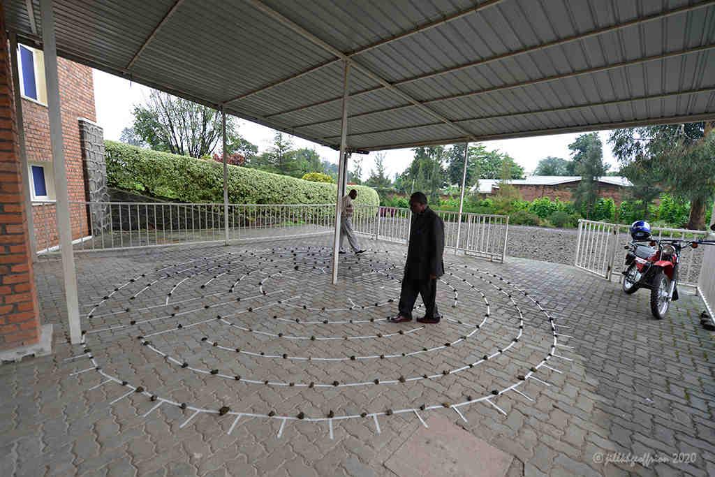 Musanze Rwanda labyrinth walk by Jill K H Geoffrion, photographer