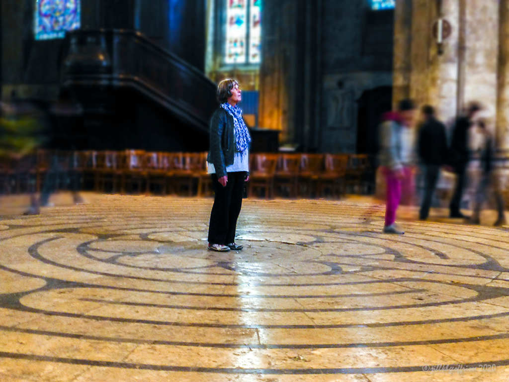 Center of the Chartres Labyrinth by Jill K H Geoffrion, photographer