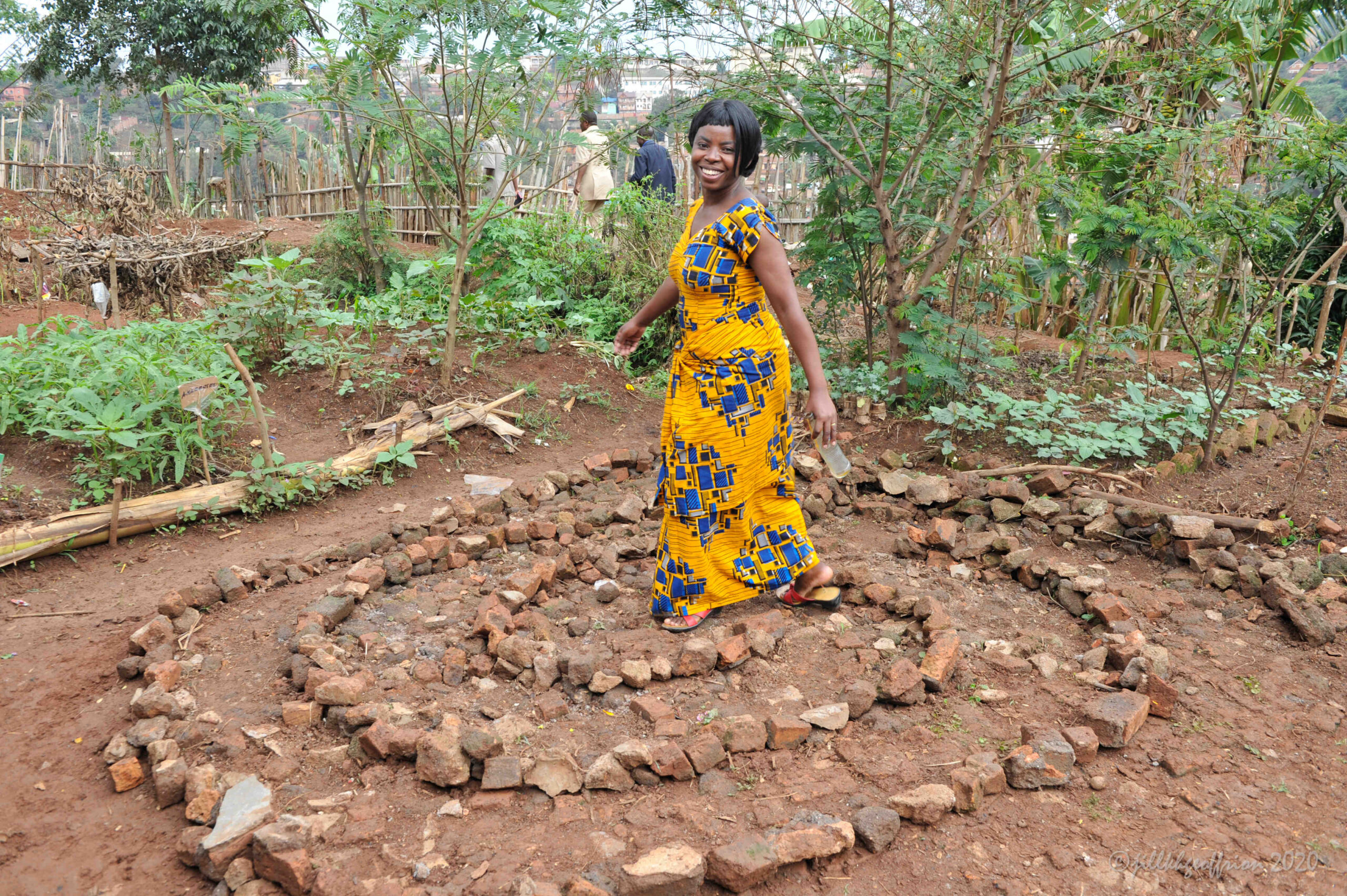 Labyrinth walking in D R Congo
