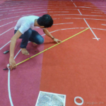 Building a temporary labyrinth in Cambodia