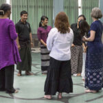 Acting out Biblical Stories on Yangon labyrinth