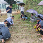 Building a labyrinth in Falam, Myanmar