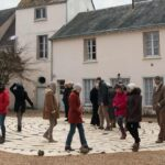 Artists walk canvas labyrinth in Chartres