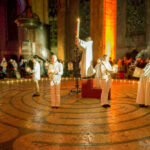 Liturgy of Light in Chartres Cathedral on the labyrinth