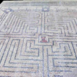 Roman Mosaic labyrinth in Portuagal