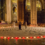 Canvas labyrinth walk in the Chartres Cathedral