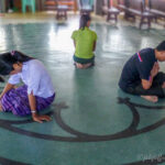 Praying a labyrinth in Yangon