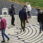 CCN Canvas Labyrinth near Mont St Michel, France by Jill Geoffrion
