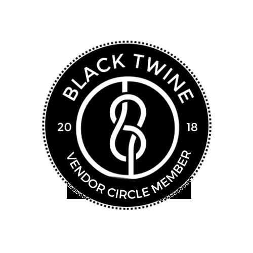 Black Twine Vendor Circle 2018 Logo (Transparent)