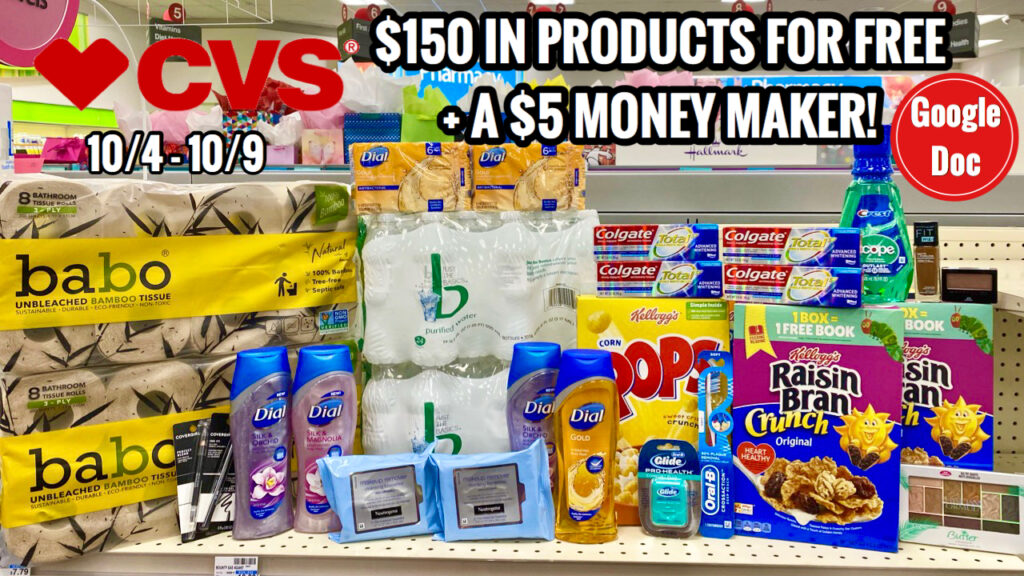 Cvs Free Cheap Coupon Deals Haul 10 4 10 10 150 In Products For Free Moneymaker Week Extreme Coupon Savings Made Easy
