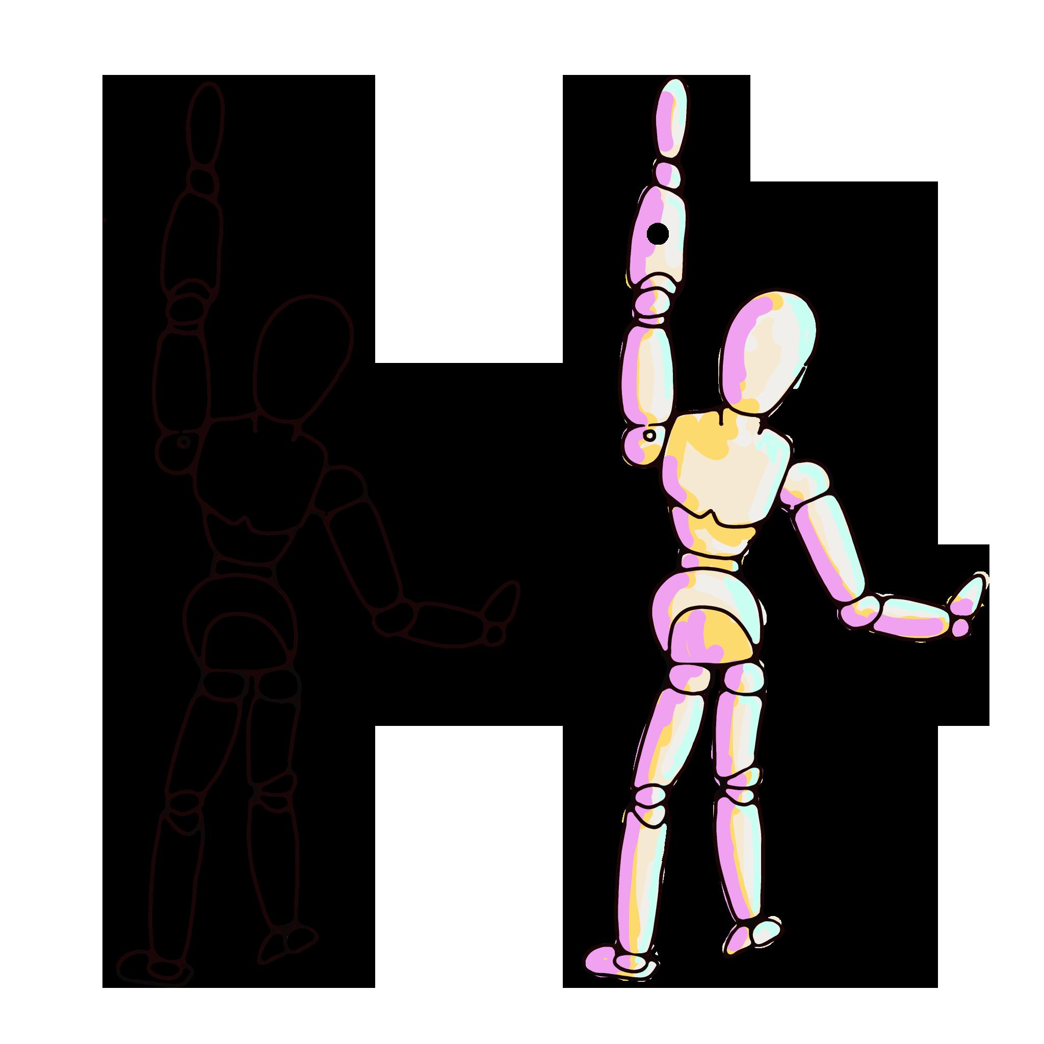 Artist Figure Reaching Up