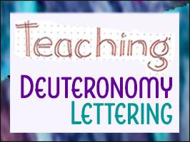Lettering Lesson- Teaching