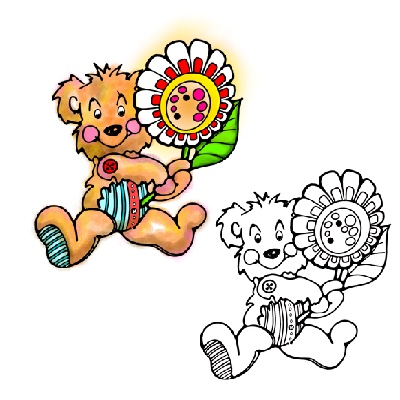 Teddy Bear with Flower
