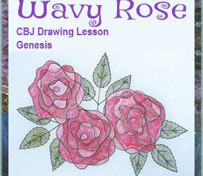 """Drawing Lesson """"Wavy Rose"""""""