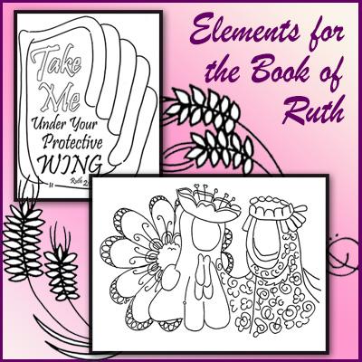 Clip Art Elements – Ruth