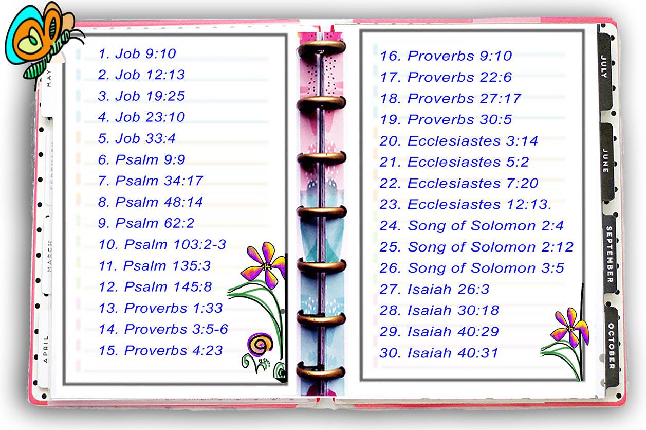 Scripture Writing April