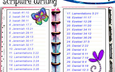 Scripture Writing – May