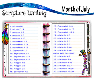 Scripture Writing – July
