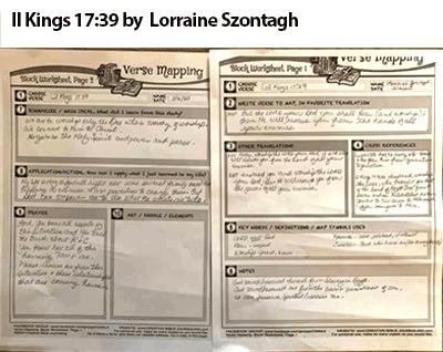 Verse Mapping 2 Kings 17:39 Lorraine